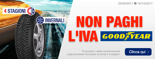 Non paghi l'IVA Goodyear
